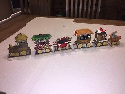 Charming Tails Dean Griff Fitz and Floyd RETIRED Christmas Train Set 6 pieces !