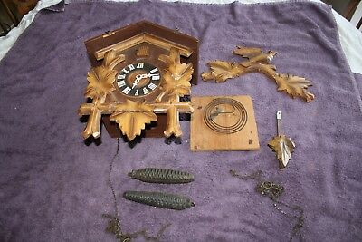 German Cuckoo Clock for Spares or Repair Vintage