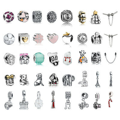 Women Girl Charms Beads European Chain 925 Silver Pendant Fit Dangle Bracelet