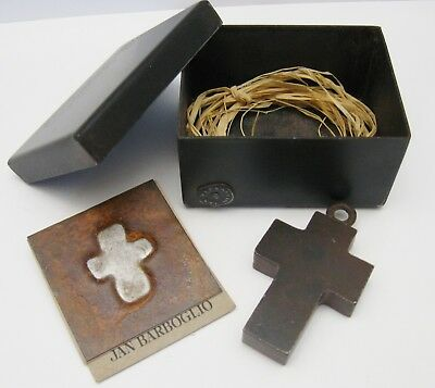 JAN BARBOGLIO Iron CROSS House Blessing & Box
