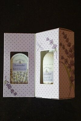 Crabtree And Evelyn Gift Set Lavender Shower Gel +Hand + Body Lotion Brand New!