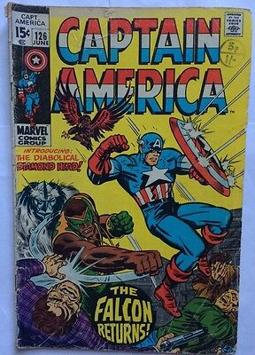 Captain America - The Falcon Returns ! #126 June 1970  UK Edition