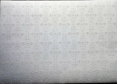 """Dollhouse Miniature Embossed Textured Ceiling Paper 1:12 Scale 17 """"x 12"""""""