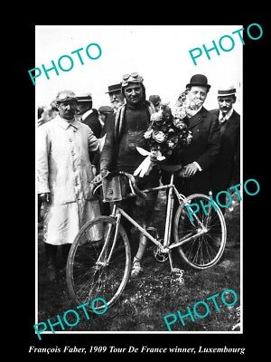 Old Large Historic Cycling Photo Of 1909 Tour De France Winner Francois Faber 3
