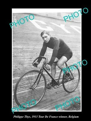 Old Large Historic Cycling Photo Of 1913 Tour De France Winner Philippe Thys 3