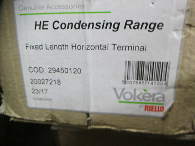 Vokera fixed length horizontal flue kit 29450120 HE Condensing Range