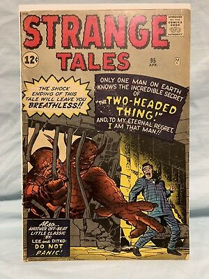 STRANGE TALES #95 F 1962 Marvel comic Kirby Two Headed Thing