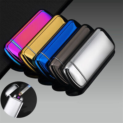 Windproof Electric USB Lighter Dual Arc Rechargeable Plasma Flameless Cigarette