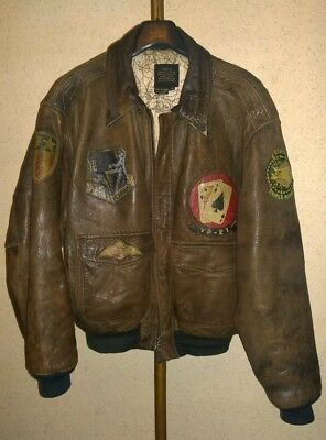 Avirex leather jacket Bomber Vintage Type-A2 1987 Top Gun Flying Pelle Paninaro