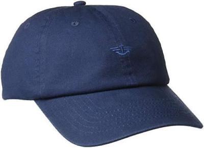 New Dockers Men's Unisex Classic Baseball Dad Hat with Logo, Navy Blue, One Size