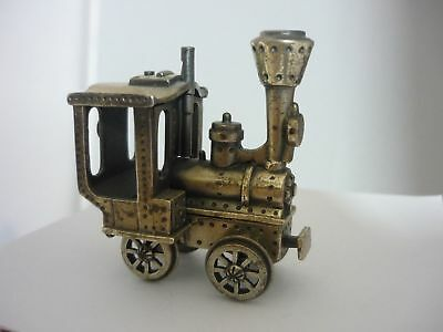Stunning, Rare Vintage Italian Sterling Silver Train Engine Model By Uno A Erre