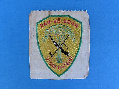 Rare Original South Vietnamese Made Silk Diem Era Self Defense Force Patch Rvn