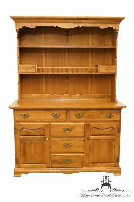 """TELL CITY Young Republic Solid Hard Rock Maple 52"""" Buffet w. Hutch Top - Ando..."""