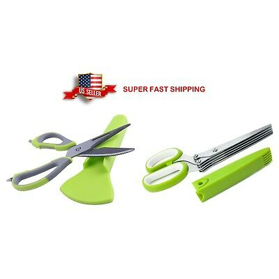 5 Blade Herb Scissors, Multi-Purpose Shears, Kitchen Essential Gadget Tool