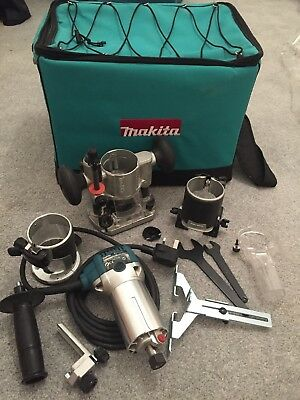 "makita rt0700c Trimmer 240v Collet 1/4"" Or 3/8"""