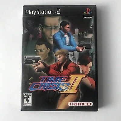 Time Crisis II (Sony PlayStation 2, 2001) Time Crisis 2 Complete CIB Tested
