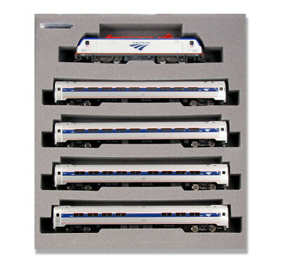 Kato 1068001DCC N ACS-64 and Amfleet I Phase VI 5-Unit Bookcase Set