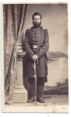 CDV of a Civil War Union Officer in Uniform with Sword