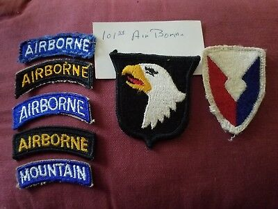 VINTAGE MILITARY PATCH 101st AIRBORNE AREFS AIR REFUELING SQUADRON