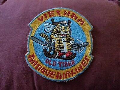 Vintage Military Patch Vietnam Antique Airlines Old Tiger Air Refueling Squadron