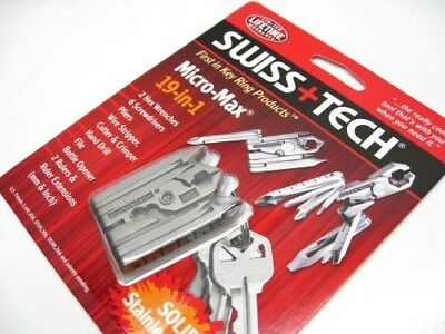 Swiss+Tech Stainless Steel Micro-Max 19 In 1 Multi-Tool Plier Driver ST53100
