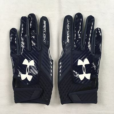 NEW Under Armour - Navy Poly Gloves (L)