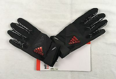 NEW adidas - Black Poly Receiver Gloves (Multiple Sizes)