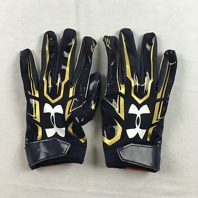 NEW Under Armour - Navy/Gold Poly Receiver Gloves (Multiple Sizes)