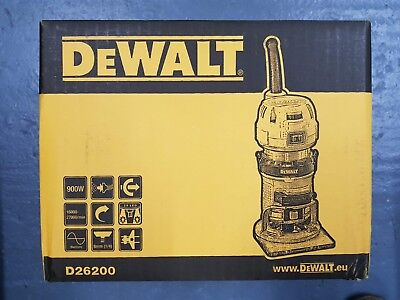 Dewalt D26200 900w Compact Fixed Base Corded Router 240v - Brand New Sealed Box