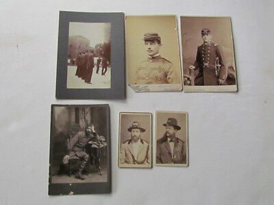 group of military related cv & cabinet photographs