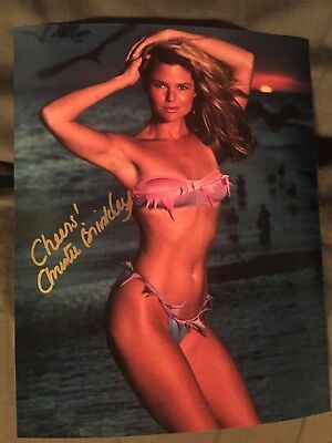 Christie Brinkley Signed 8x10 Photo Sports Illustrated Swimsuit Picture PROOF