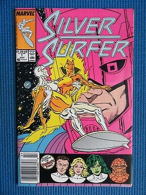 Silver Surfer # 1 - (Vf-) - 1St Issue - Silver Surfer Is Free, Thanos, Ff