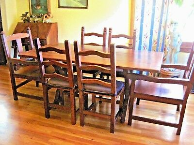 Vintage Brazilian Rosewood Dining Room Set Table and Chairs