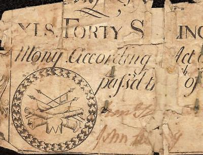 APRIL 1748 DRUM and FIFE NOTE NORTH CAROLINA COLONIAL CURRENCY PAPER MONEY NC-69