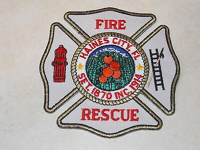Haines City Florida FL Fire Department Dept. Rescue Patch New