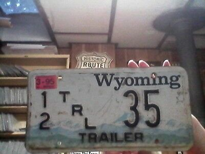 1995 Wyoming Travel Trailer license plate