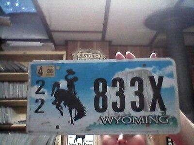 2006 Wyoming license plate