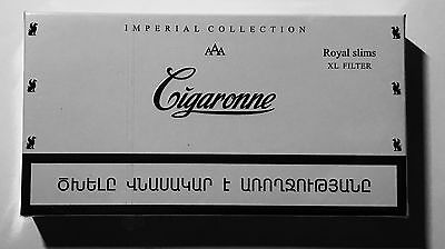 Cigaronne Imperial Collection Royal Slim XL Filter Cigarette White