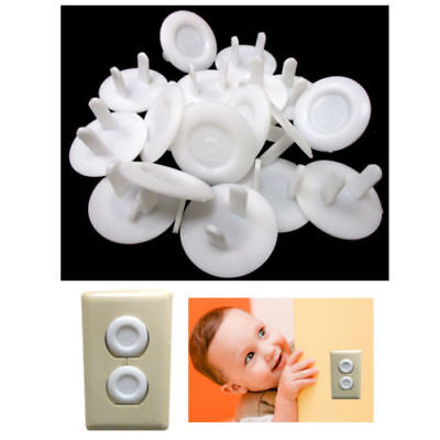 36 Pc Safety Outlet Plug Protector Covers Child Baby Proof Electric Shock Guard