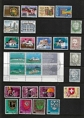 Switzerland, 1978 & 79 issues, used, see 2 photos