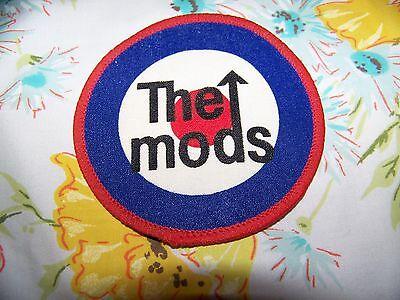 NOS NEW Vintage 80s THE MODS Woven Denim Jacket Back Patch 3.5 X 3.5 The Who