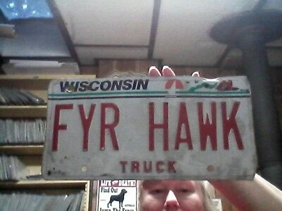 1990's Wisconsin Truck Personalized license plate