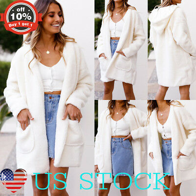 Women Knitted Cardigan Casual Trench Sweater Jumper Coat Jacket Oversize Outwear