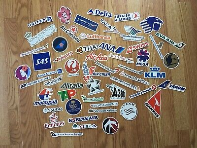 vintage airline stickers (various)