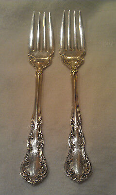 """Wallace Sterling Silver Salad Fork Lot Irving ~ 6 1/4"""" ~ 65.54g"""