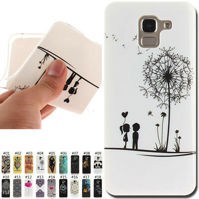 For Samsung Galaxy J6(2018) Painted Rubber Silicone Cover Gel TPU Soft Case Skin
