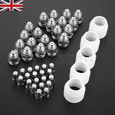 New 45×P-80 Plasma Torch Cutting Electrodes Tips 1.1 60Amp Shield Cups 80-100A