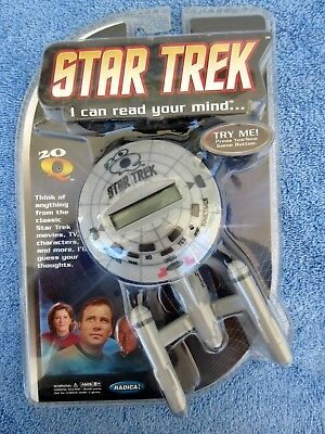 "2009 Matel Star Trek Enterprise Q20 Game ""I Can Read Your Mind"" NIP Works Great"
