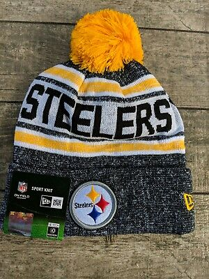 ac0c25e0d best pittsburgh steelers new era on field sport knit hat 522ea 8e828