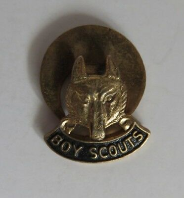 Vintage Boy Scouts Wolf's Head Button Pin                (Inv19950)